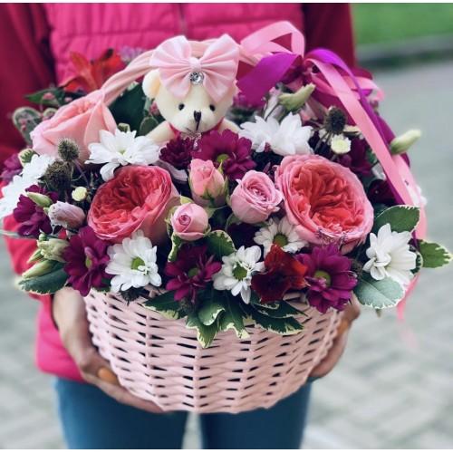 Корзина с цветами #231 - фото