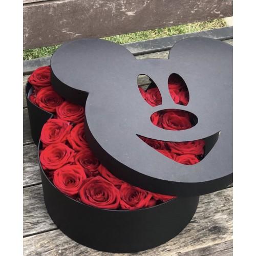 Цветы в коробке Микки Маус (разные размеры) - фото